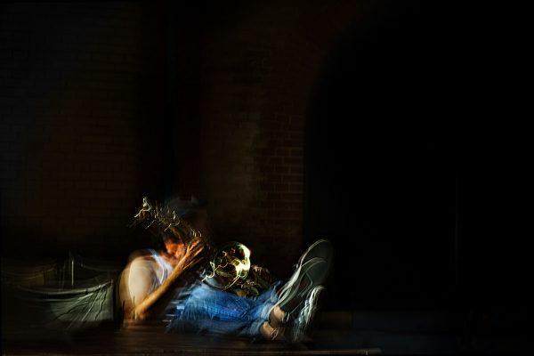 Michael spielt das Teufelshorn 02