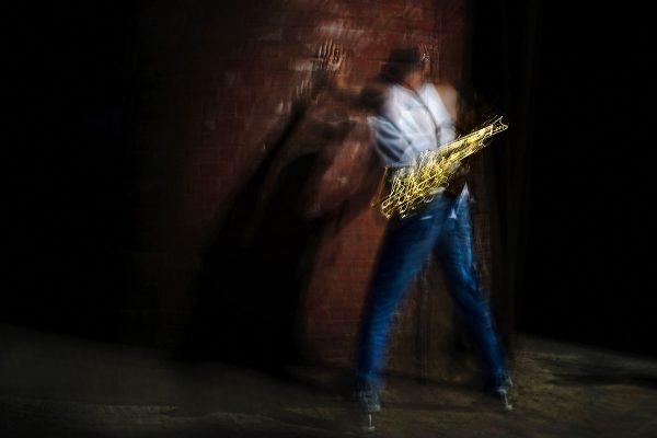 Michael spielt das Teufelshorn 05